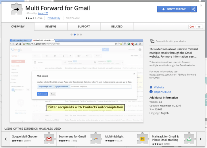 Can you forward multiple emails in gmail