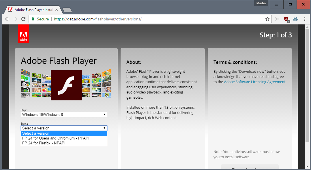 How to Update or Install Flash Player in Chrome browser