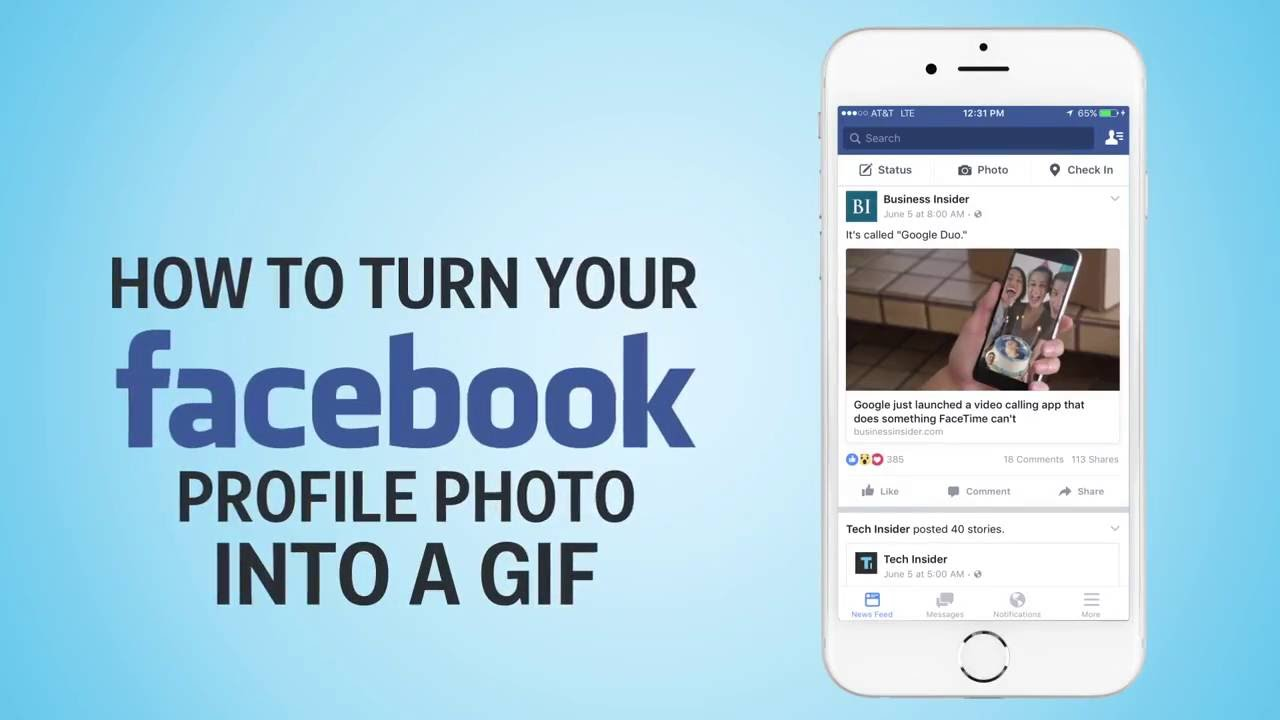 How to turn your Facebook profile photo into a GIF