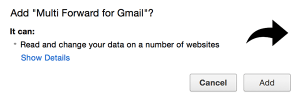 Multi Forward for Gmail extension