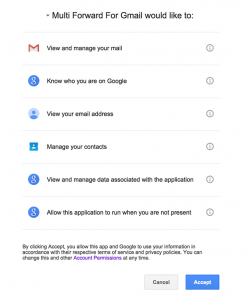 Forward emails in your Gmail account