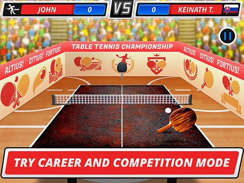 Free Table Tennis 3D Virtual Championship Iphone Game Download