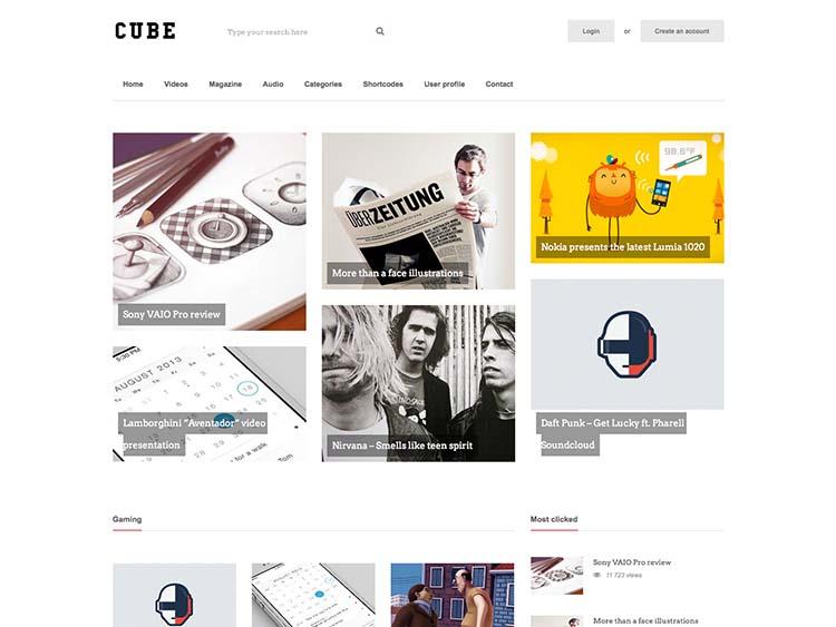 Cube WordPress Free Download