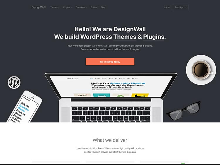 DesignWall WordPress Theme Free Download