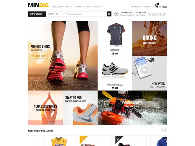 Mindig WooCommerce WordPress Theme Free Download