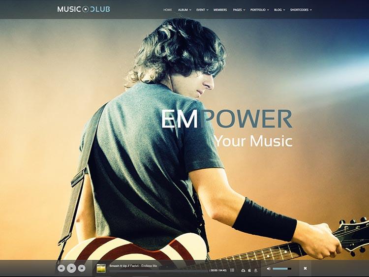 Music Club WordPress Theme Free Download