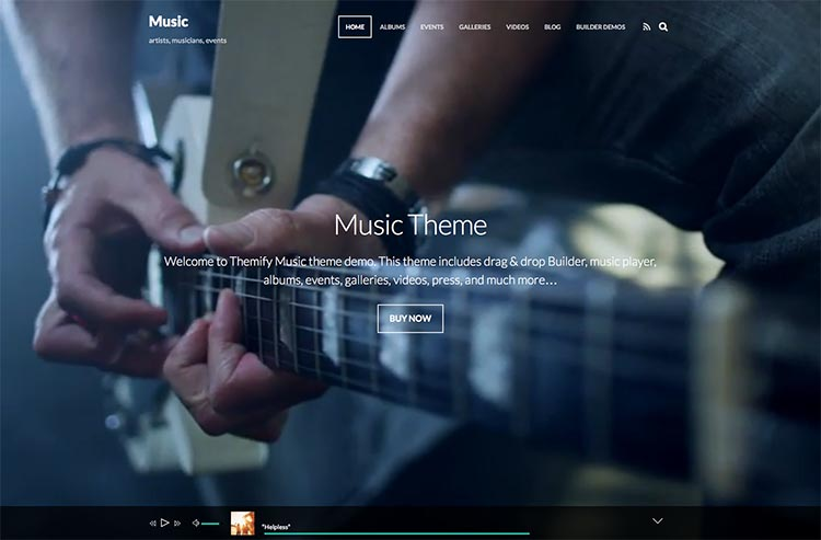 Music by Themify WordPress Theme Free Download