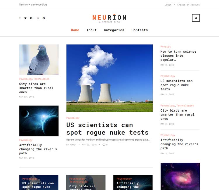 Neurion WordPress Theme Free Download