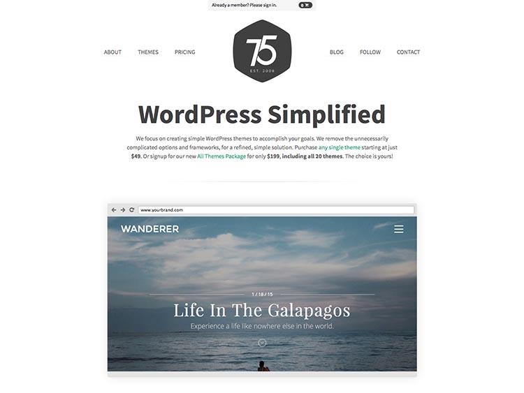 Press75 WordPress Theme Free Download