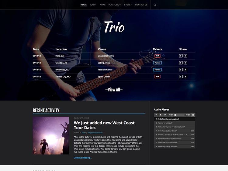 Trio Band WordPress Theme
