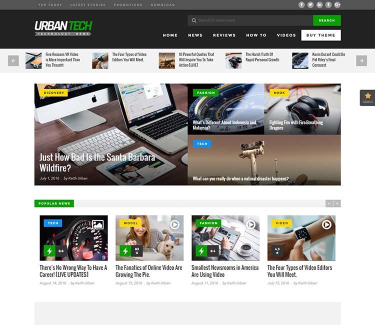 Urban Mag WordPress Theme Free Download