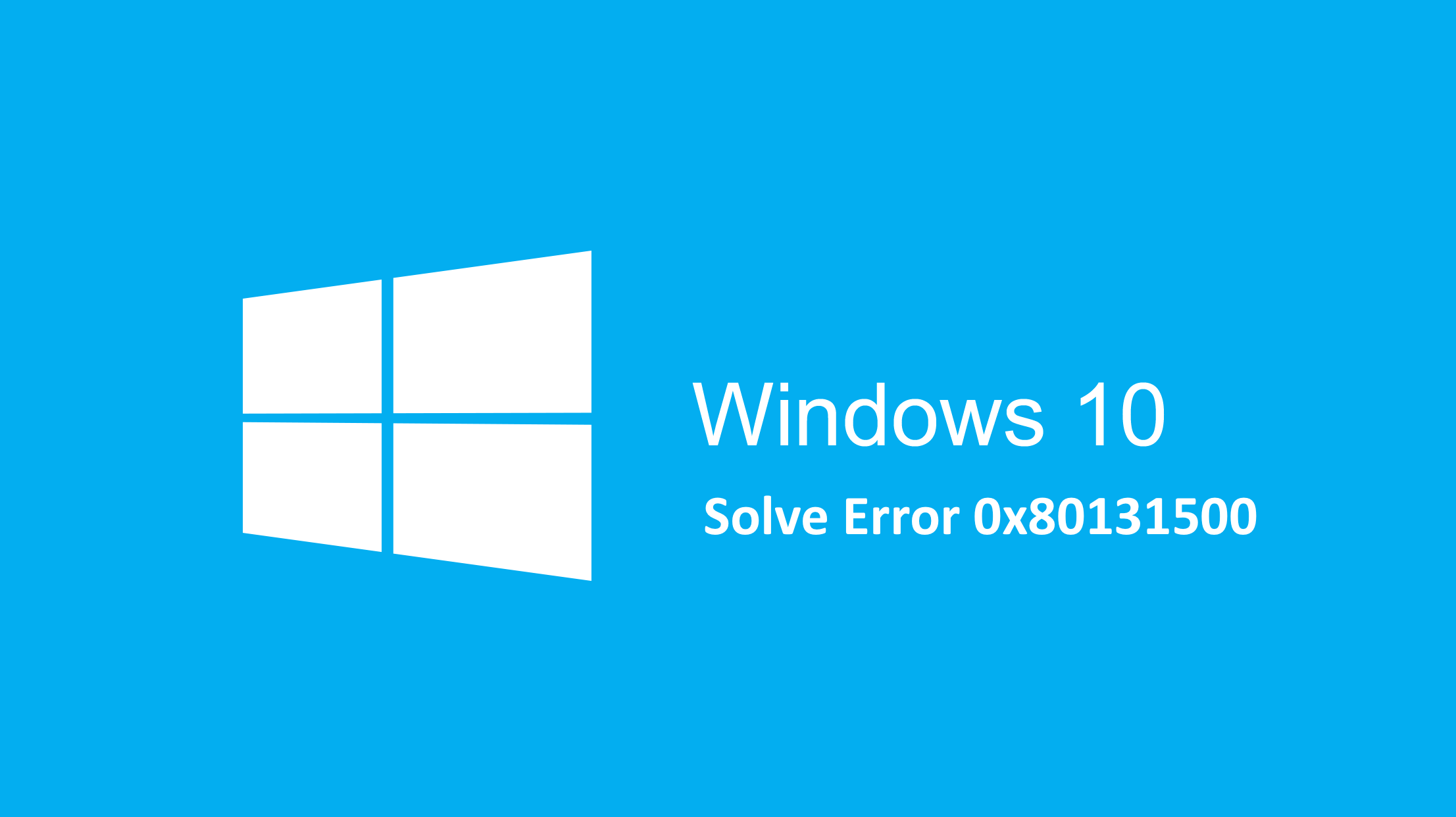 Error code 0x80131500