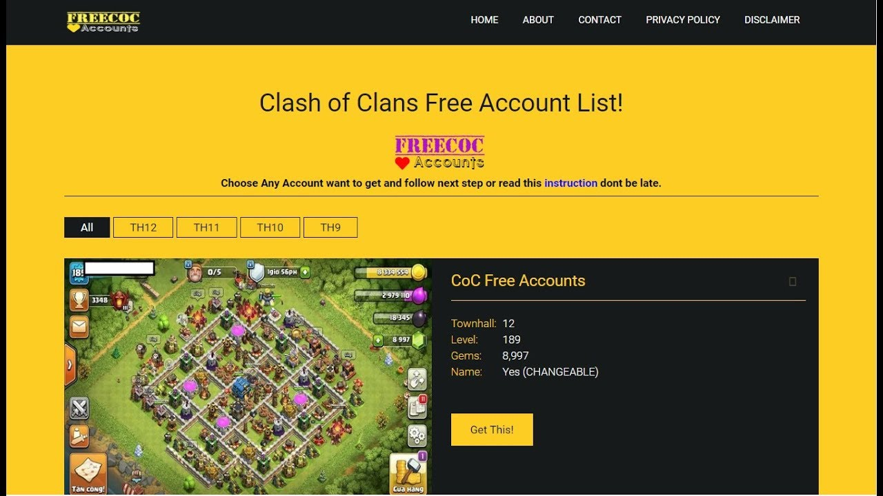 How to get a clash of clans free account