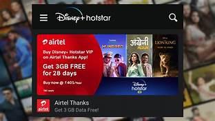 Disney Hotstar Airtel user