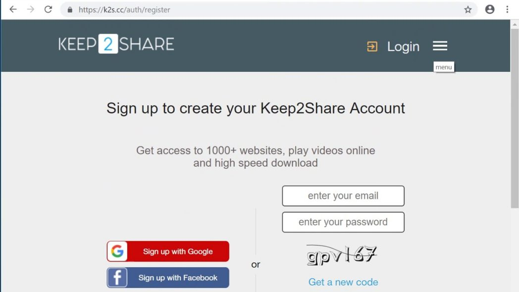 Keep2share Activation key code 2021